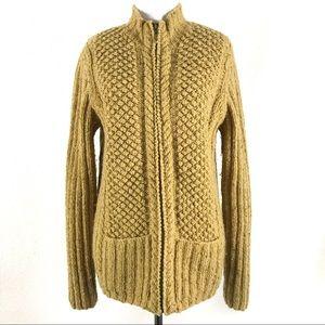 Jones New York Country Wool Cardigan Hand Knit S